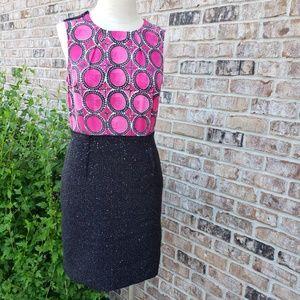 RACHEL Rachel Roy sleeveless pink/black dress sz 6